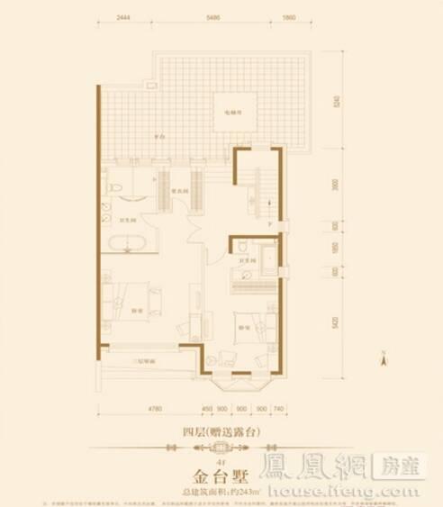 华贸城·铂金墅         最低总价:1500 万元/套              户型