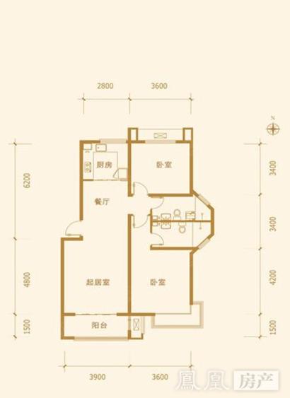 金屋秦皇半岛 户型名称:一区21号楼a户型
