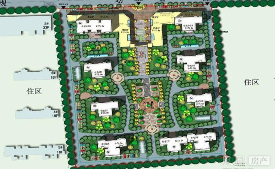 小镇广场设计平面图