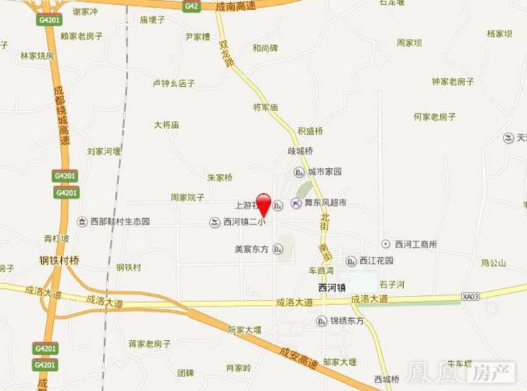 成都西河大林村地图