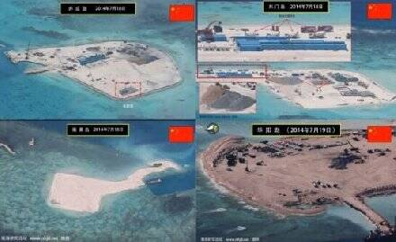 题为《中国在南沙和西沙群岛建设海空军联合基地》