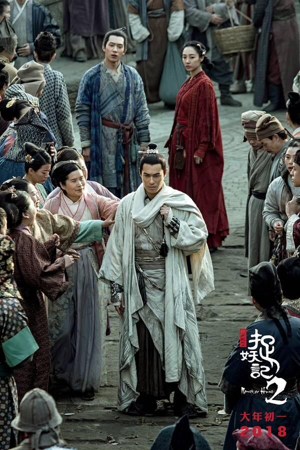 《捉妖记2》曝杨祐宁特辑 颜值武力值兼备演绎吊威亚