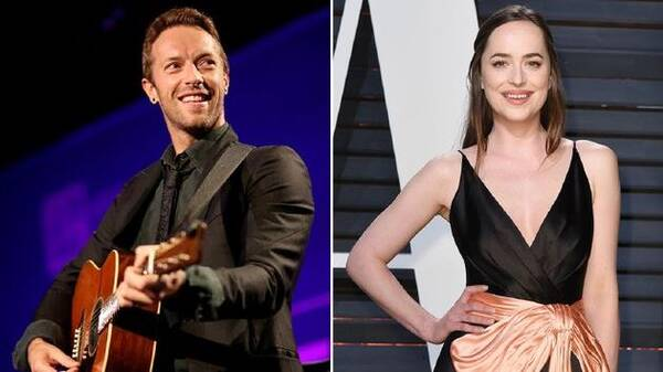 Coldplay主唱与《五十度灰》热恋?二人被曝家中约会