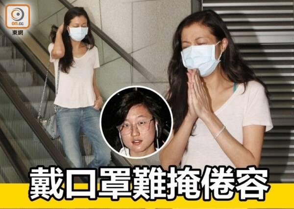 涉嫌恐吓女儿,吴绮莉离开警署满脸倦容(图)