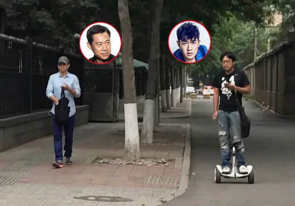 张丰毅父子北京街头度周末 撞脸程度100%(图)