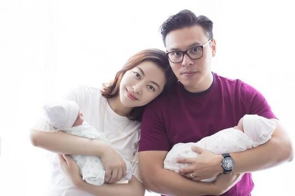 熊黛林证实生双胞胎女儿喜讯 晒一家四口合照幸福满满