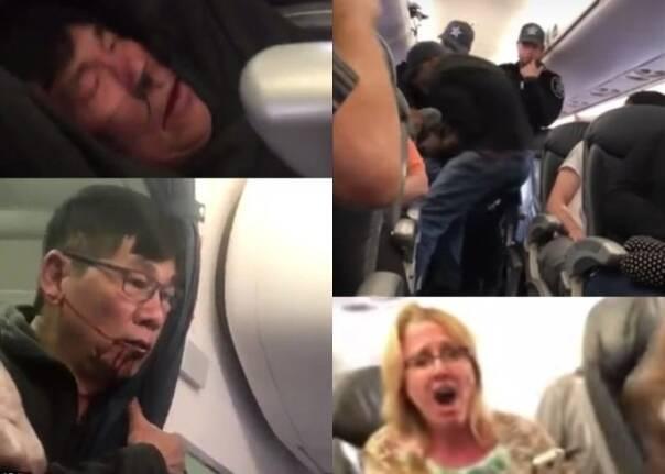 美联航暴力拖拽华裔乘客 中外网友怒骂:没脸航