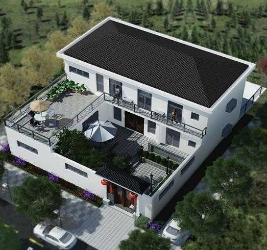 看完这栋2层中式小院,真想把自己的房子拆了改一改图片