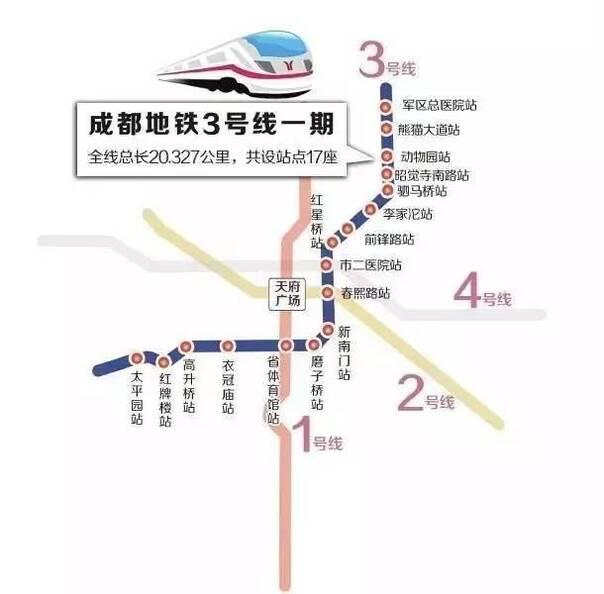 设军区总医院,熊猫大道,动物园,昭觉寺南路,驷马桥,李家沱,前锋路