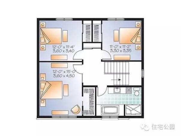 图纸大全 > 农村平房房子设计图纸  新农村获奖设计房屋图纸_造价15万图片