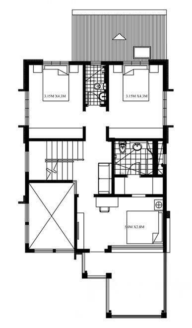 新农村自建房8x11.8米,适合农村人的现代别墅