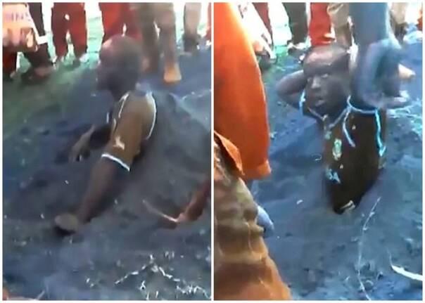 南非村民活捉小偷 逼他自掘坟墓活埋自己