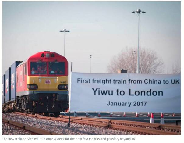 这辆中国列车从义乌开到伦敦 270万英国人围观