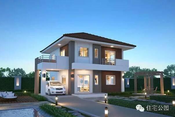 农村自建房设计,面宽都是10米,车库都是单独设置,有农家小院或者路边