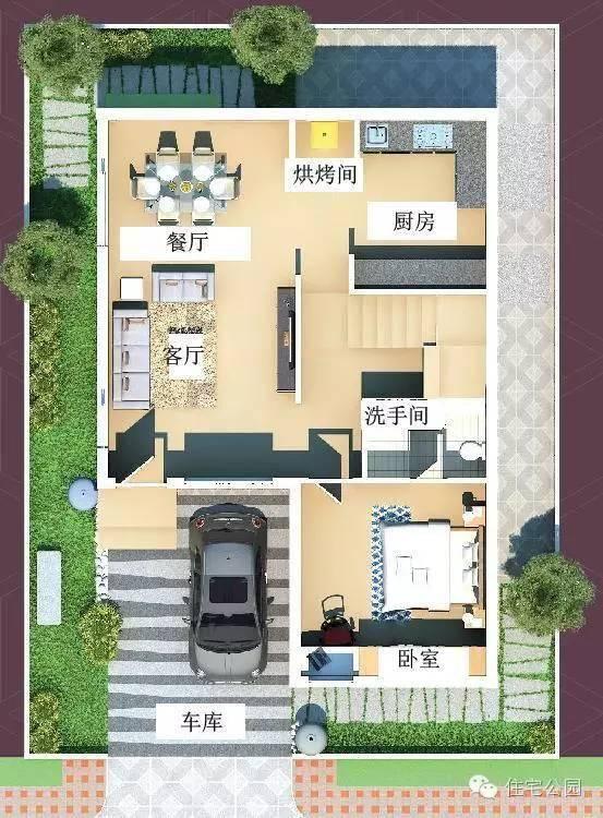 新农村自建房 8米x12米