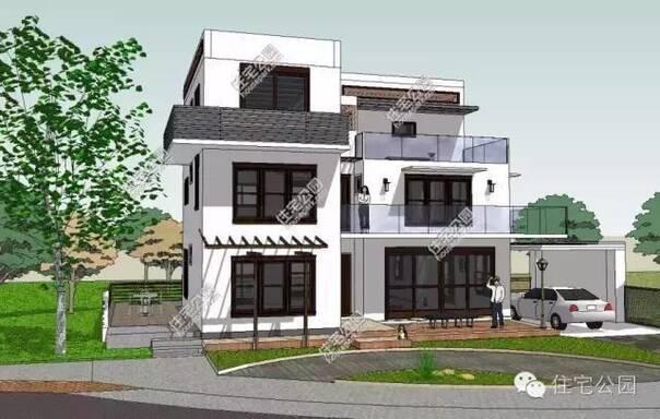 他们大多都会选欧式风格的户型,坡屋顶的造型,但是小编认为,现代风格