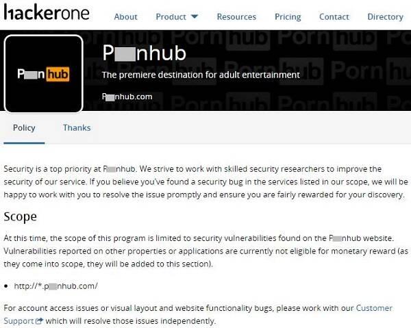 五色月成人网站_成人网站也怕碰上黑客 p**nhub赏金请人除bug