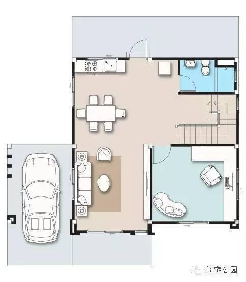自建房设计,面宽都是10米,车库都是单独设置,有农家小院或者路边可