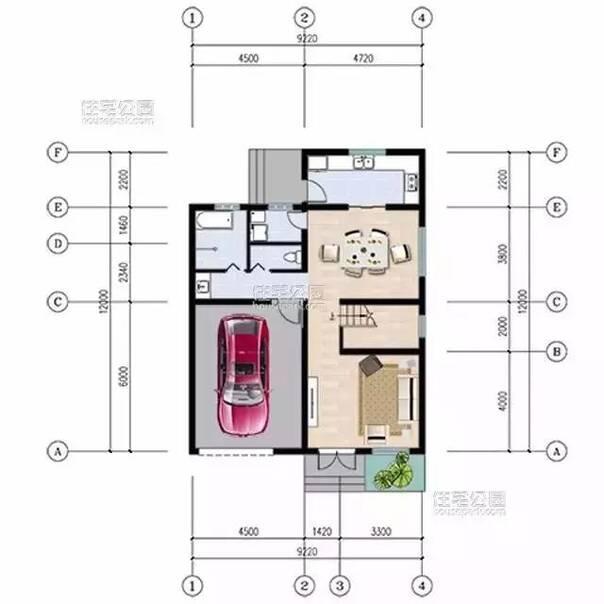 新农村自建房9.2x12米,回头率高(全图 预算)