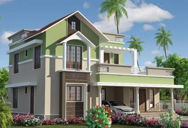 只用常见的外墙材料,用颜色去丰富房屋的层次,你觉得这样的房子好看不
