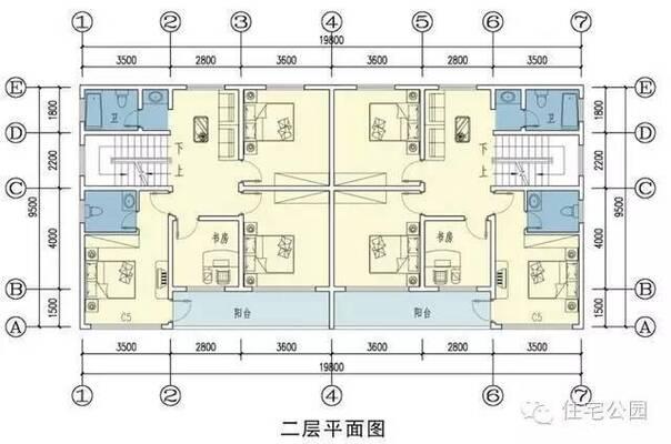 新农村自建房实用图纸 10米X10米 兄弟双拼更漂亮图片