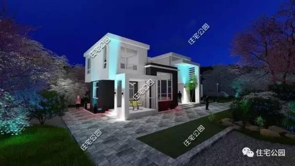 19x9米农村2层现代别墅,18万盖好,客厅挑空宜居实用!
