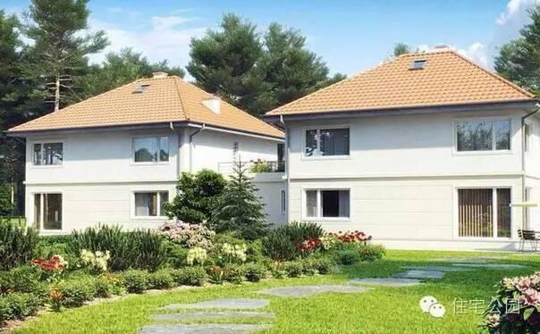 兄弟双拼别墅,房屋为2层坡屋顶