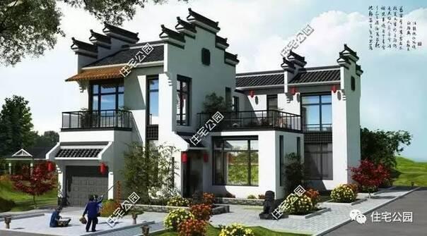 平面布局图:  它有前后两个院,房屋西侧有车库,厨房和餐厅,主房一