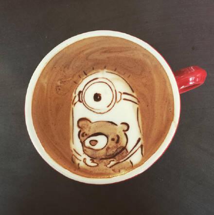 围观150827:咖啡里可爱的图案作品 看了谁还舍得喝