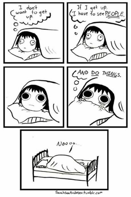 我不想起床,我一起床就要跟人交流