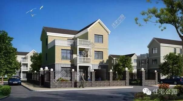 实用3层325平米农村自建房别墅带车库全图预算
