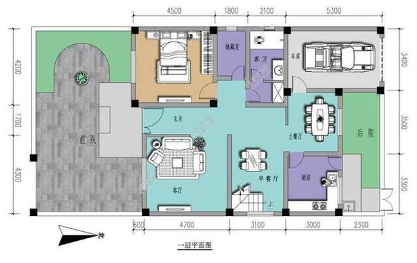 新农村自建房两层14米x10米现代中式户型参考 全图 预算