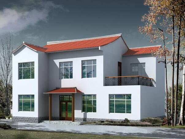 新农村实用2层自建房10款-10:来套欧式自建房豪宅收个尾,一般欧式