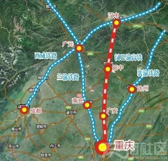 自达州向西南途经大竹县,邻水县,最后接入重庆市铁路网络.