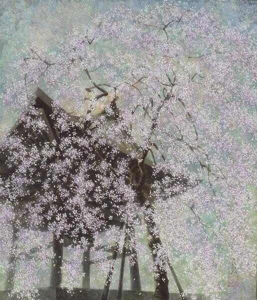 福井良宏筆法細膩水彩-(是福井良佑的父親)-描繪出櫻花飄落宛如夢境一般的世界。。。 - ☆平平.淡淡.也是真☆  - ☆☆。 平平。淡淡。也是真。☆☆ 。