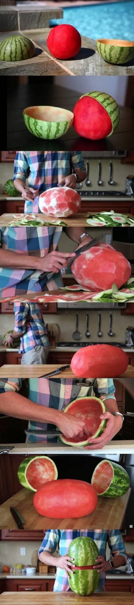 国外很火爆的西瓜新吃法 你们歪果仁真会玩|含动