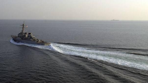 美军舰今天闯入西沙群岛中建岛