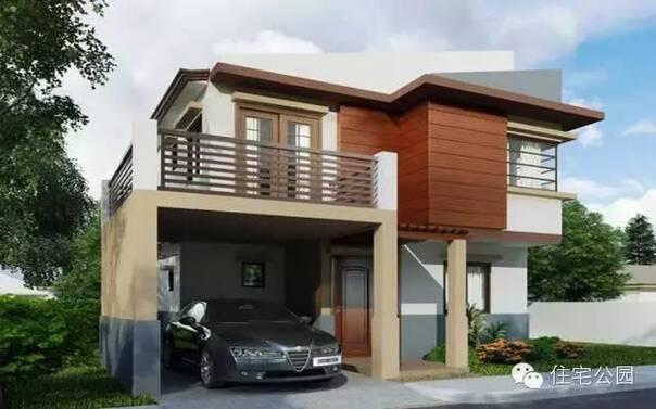 5套现代经典2层自建房设计图推荐