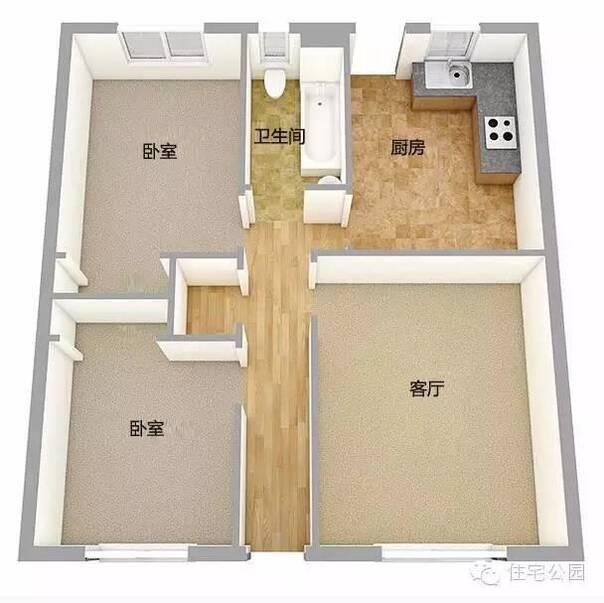 10万就搞定 新农村自建房单层户型5套 含3d平面图