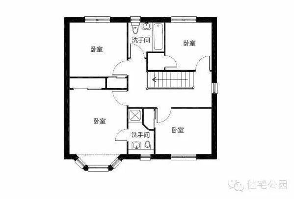 2套非常实用的农村小面积自建房户型(含3d室内图)分享