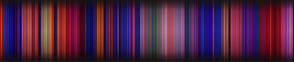他把电影的每一帧取平均色 做出了电影专属条形码