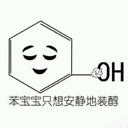 苯宝宝只想安静地装醇 化学生专属表情包
