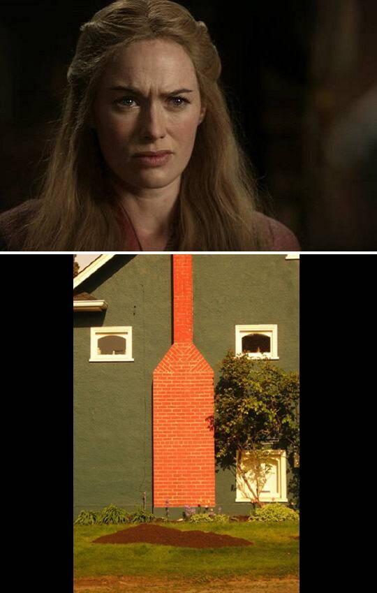 这些小房子看起来就像权力的游戏……里面的角色!