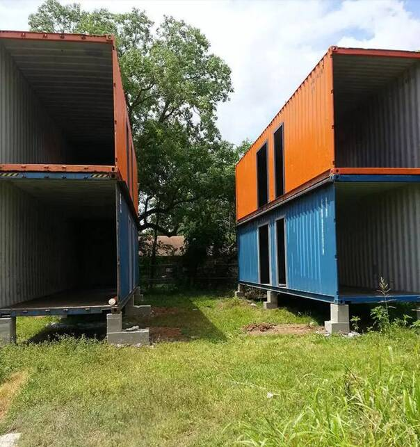 你能相信这座漂亮的房屋原来只是四个集装箱吗?