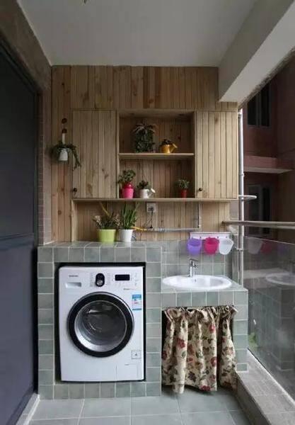 小户型阳台怎么利用24款阳台洗衣房装修效果图