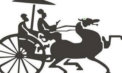 古代的战车都是单辕驾车,变换方向有一定的难度,四匹挽马全靠御手立姿