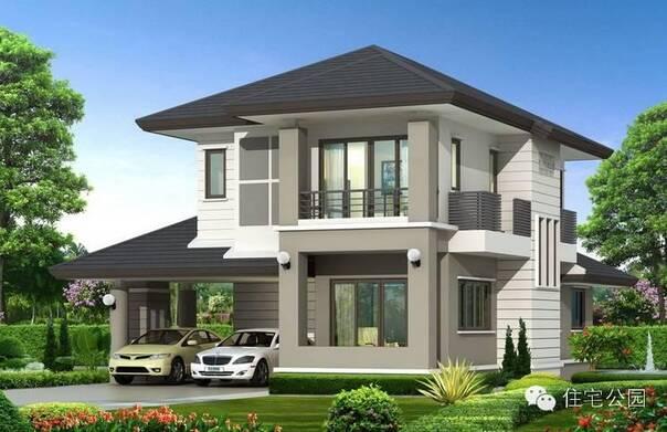 3套坡屋顶的现代自建别墅