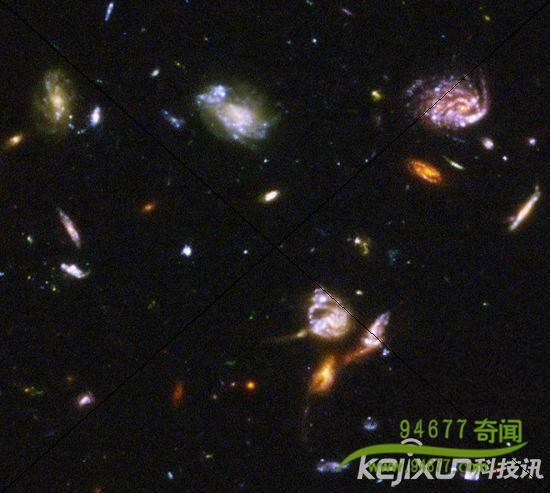 片是美国宇航局哈勃空间望远镜获得的最深邃的影像之一-宇宙有多大