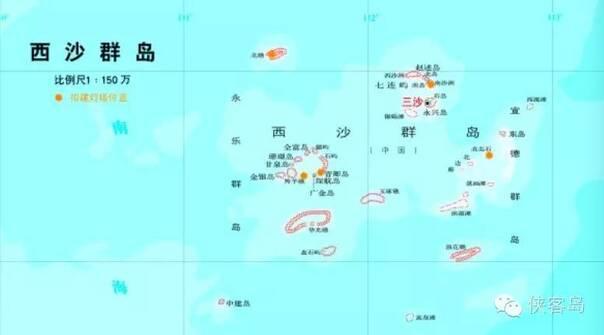 南海美济岛地图