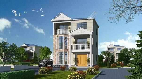 农村自建房13米x8.6米3层280平户型分享
